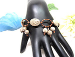 Fossil Coral and Copper Hand Crafted Bracelet