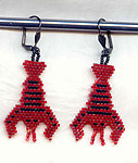 LOBSTER EARRINGS:  Needlewoven Symbols of Luxury