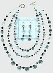 Elegant Tourmalinated Quartz and Black Onyx Jewelry Set