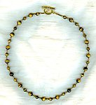 Tigereye Men's or Unisex Beaded Necklace