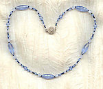 AVALON: Pale Blue Vintage Swarovski Crystals Necklace