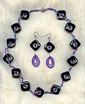COLOR COMMITMENT JEWELRY SET:  Black Onyx and Seed Bead Pizzazz