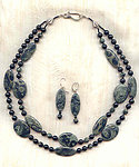 Dark Shadows Jewelry Set: Kambaba Jasper and Black Jasper