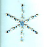 Periwinkle and Pearl Handmade Snowflake Christmas Tree Ornament