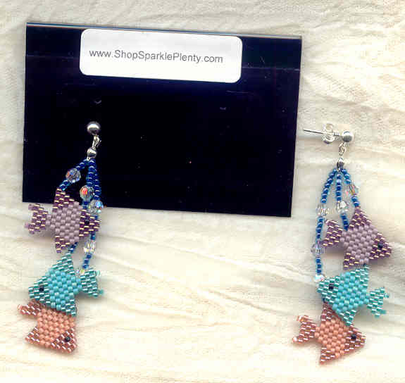 School 39 s out earrings needlewoven tropical fish for Plenty of fish cheyenne