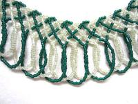 Celtic Knot Netted Fringed Beaded Necklace