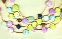Trendy Multi Strand Beaded Necklace: Summer Island Colors