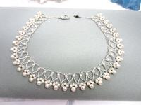 Bride's Necklace Bead Work Collar Swarovski Crystal Pearls