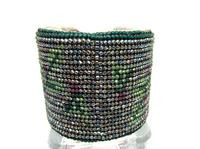 Cuff Bracelet Adjustable Glowing Bead Woven Cherry Blossoms