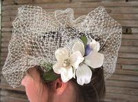 Bridal Veil Flower Birdcage Veil Contemporary Garden Wedding Accessory