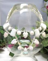 White and Crystal Statement Necklace Collar Necklace Bridal Necklace