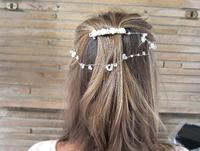 Versatile Bridal White Headpiece Floral Pearl and Crystal