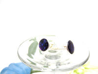 Cuff Links Purple Paua Shell in Silver Unisex Accessory