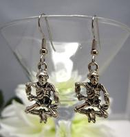 Dancing Pewter Skeletons Earrings Day of the Dead Dia de los Muertos