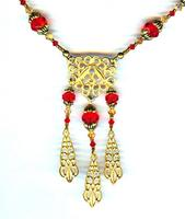 Fashion Jewelry Set: Lucky Red and Gold