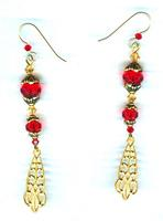 Fashion Jewelry Set: Lucky Red and Gold.