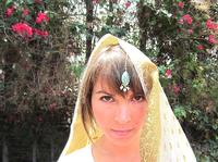 Turquoise and Gold Indian Style Headpiece Tikka Tika Hair Jewelry