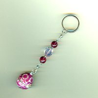 INTEGRITY: Fuchsia Enamel Locket Keyring with Special Message