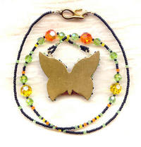 ARTISAN CRAFTED PENDANT BUTTERFLY: Brilliant Swarovski Crystals
