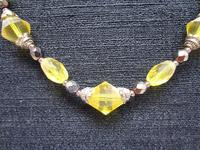 Necklace of Vintage West German Deco Cut Citrine Crystal