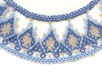 Ultramarine, Cornflower and Gold Netted Collar Necklace