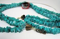 MAELSTROM: Long 3-Strand Necklace and Lampwork Glass Pendant