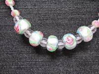 Necklace Long Spring Pastels Glass Beaded