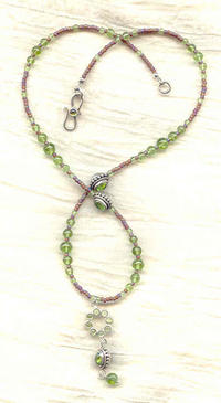 Sterling Silver Peridot Artisan Crafted Pendant Necklace