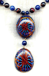 HATSHEPSUT: Egyptian Inspired Polymer Clay Pendant Necklace