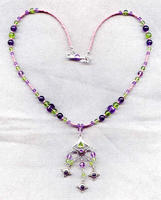 Hanging Garden Pendant Necklace: Amethyst, Peridot and Sterling Silver