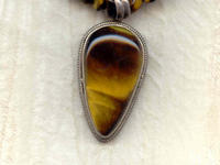 Sterling Silver and Tigereye Pendant Necklace