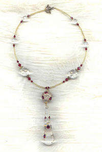 Vintage ruby red necklace in Necklaces  Pendants - Compare Prices