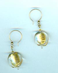 GOLDEN PATH JEWELRY SET: Gold Foil Venetian Lampwork Beads