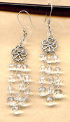 FLEUR EARRINGS: Clear Firepolish Crystal Chandeliers