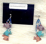 SCHOOL'S OUT EARRINGS:  Needlewoven Tropical Fish