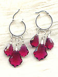 Baroque Ruby Swarovski Crystal Chandelier Earrings