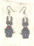 Bunny Rabbit Needlewoven Earrings