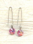 Fashion Jewelry Ear Threaders Vintage Swarovski Crystals