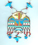 Embellished Beadwoven Tribal Design Pendant Necklace