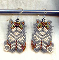 Beaded Earrings: Clyde's Tails
