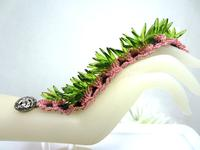 Cactus Rose Bracelet: Spiky Handmade and Colorful Wrist Candy