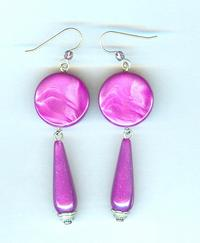 Vintage Glowing Marbled Lilac Acrylic Earrings