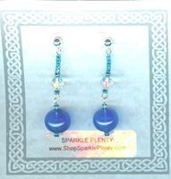 Handcrafted Blown Glass Cobalt Blue Drop Earrings