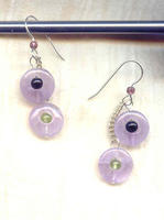 AMETHYST A-GO-GO EARRINGS: Multi-Stone and Sterling Silver