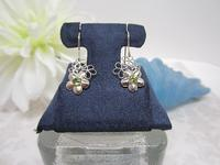 Earrings Sterling Silver Flowers Quality Faceted Peridot