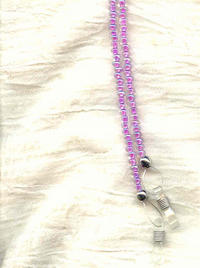 Orchid Beaded Eyeglass Tether Eyeglass Leash Eyeglass Holder