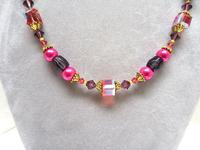 Long Hand Beaded Necklace Inspired by Colors of India