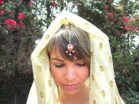 Hair Jewelry Tikka Tika Red Heart Indian Style Headpiece