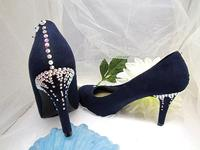 FROZEN FOOTWEAR: Queen Elsa's Crystal Icicle Size 8 Midnight Shoes