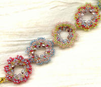Going in Circles Bracelet: Crystals and Multi-Colored Glass Beads